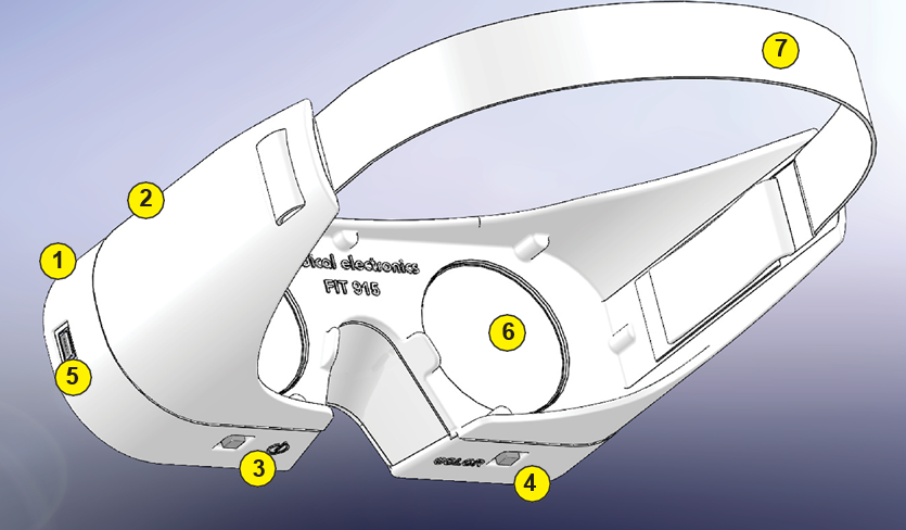 Eyes Fit 915 Image describing components